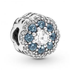 Pandora 797851NMB Silber Charm Blue Sparkle Flower