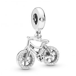 Pandora 797858CZ Silber Charm-Anhänger Brilliant Bicycle