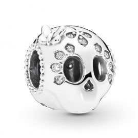 Pandora 797866CZ Silver Charm Sparkling Skull