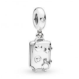 Pandora 797887EN160 Silber Charm-Anhänger Suitcase