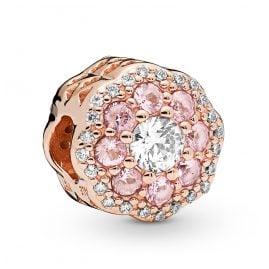 Pandora 787851NPM Rose Charm Pink Sparkle Flower