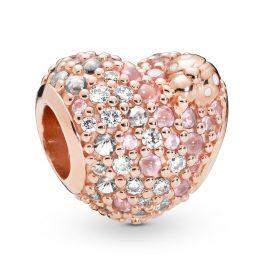 Pandora 787894NPOMX Rose Charm Heart Gleaming Ladybird
