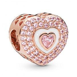 Pandora 788097NPR Rose Charm Hearts on Hearts