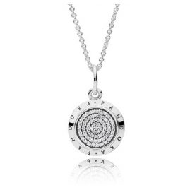 Pandora 390375CZ Logo Silver Damen-Halskette