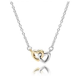 Pandora 590517 Interlocked Hearts Ladies Necklace
