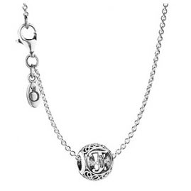 Pandora 35484 Necklace with Letter T