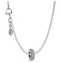 Pandora 35721 Silber-Halskette Zirkonia Pink