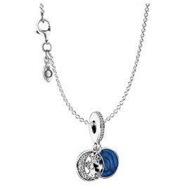 Pandora 97081 Halskette Set mit Anhänger Vintage Nachthimmel
