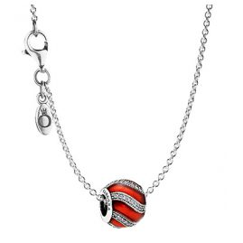 Pandora 08024 Necklace with Pendant Ornament Red