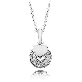 Pandora 390404CZ Necklace for Ladies Celebratory Hearts