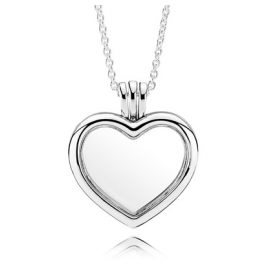 Pandora 590544-60 Damen-Halskette mit Herz Medaillon