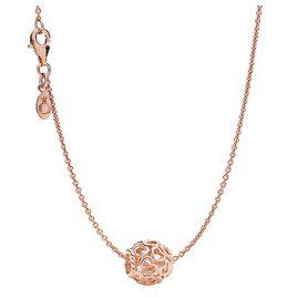 Pandora 08343 Halskette mit Anhänger Herzstrudel Rosé