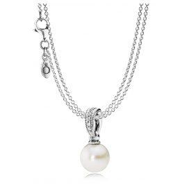 Pandora 08353 Set Halskette mit Perlen-Anhänger Zeitlose Schönheit