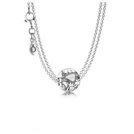 Pandora 08368 Silber-Halskette mit Erdkugel