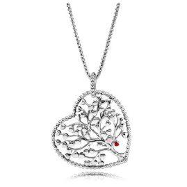 Pandora 396582ENMX-75 Ladies Necklace Tree of Love