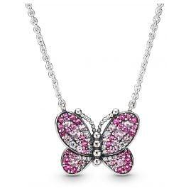 Pandora 397931NCCMX-50 Damen-Halskette Dazzling Pink Butterfly