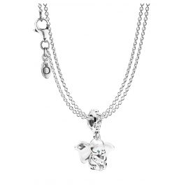Pandora 75248 Dumbo Pendant with 2-Row Necklace Silver 925