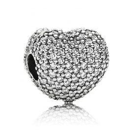Pandora 791427CZ Clip Pavé-Heart