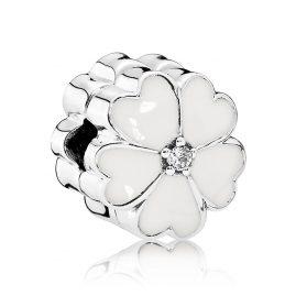 Pandora 791822EN12 Clip-Element Weiße Primel