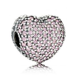 Pandora 791427PCZ Clip Element Heart Pave