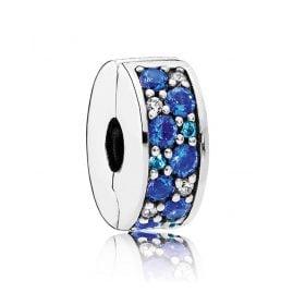 Pandora 791817NSBMX Clip-Element Blauer Pavé-Glanz