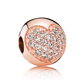 Pandora 781053CZ Clip-Element Pavé Herz Rosé