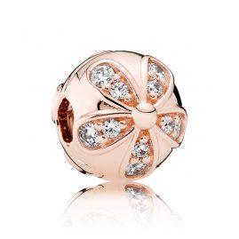 Pandora 781493CZ Clip-Element Glanzvolles Gänseblümchen Rosé