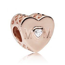 Pandora 781881CZ Charm Mother Heart Rose
