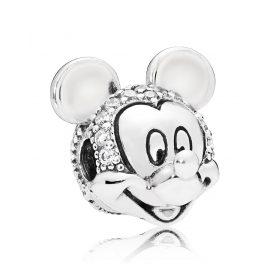 Pandora 797495CZ Clip Element Shimmering Mickey Portrait