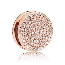 Pandora 787583CZ Reflexions Clip Charm Dazzling Elegance Rose