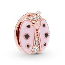 Pandora 787970EN160 Reflexions Clip Charm Ladybird Rose
