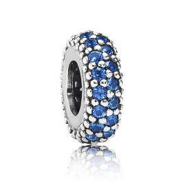 Pandora 791359NCB Silber Zwischenelement Blaue Zirkonias