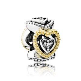 Pandora 791975CZ Spacer Vintage Hearts