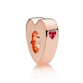 Pandora 786559CZR Zwischenelement Zwei Herzen Rosé