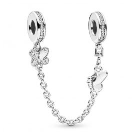 Pandora 797865CZ Safety Chain Decorative Butterflies