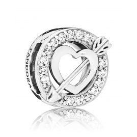 Pandora 797793CZ Reflexions Clip Charm Heart and Arrow Silver
