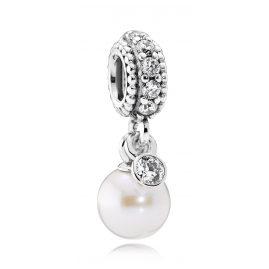 Pandora 791871P Charm Anhänger Weiße Eleganz