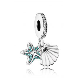 Pandora 792076CZF Charm Pendant Tropical Starfish and Shell