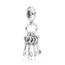 Pandora 797654NPMMX Charm-Anhänger Keys of Love