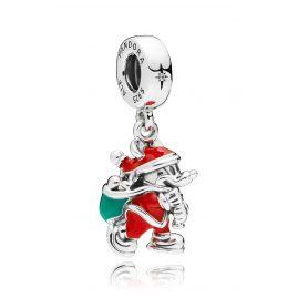 Pandora 797501ENMX Charm-Anhänger Santa Mickey & Gift Bag