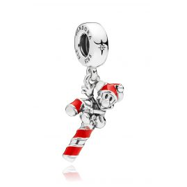 Pandora 797500EN09 Charm Pendant Santa Mickey's Candy Cane