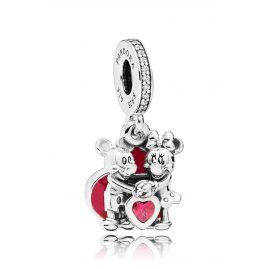 Pandora 797769CZR Charm Pendant Minnie & Mickey with Love
