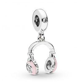 Pandora 797902EN160 Silber Charm-Anhänger Pink Headphones