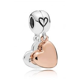 Pandora 787783EN116 Rose Charm Pendant Mother & Daughter Love