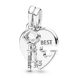 Pandora 398130 Pendant Pair Best Friends Heart And Key