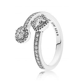 Pandora 191031CZ Ladies Ring Abstract Elegance