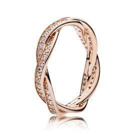 Pandora 180892CZ Ring für Damen Verbundene Treue Rosé