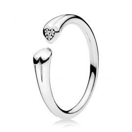 Pandora 196572CZ Ladies Ring Two Hearts