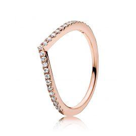 Pandora 186316CZ Ladies Ring Shimmering Wish Rose