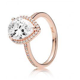 Pandora 186251CZ Rose Ladies' Ring Radiant Teardrop